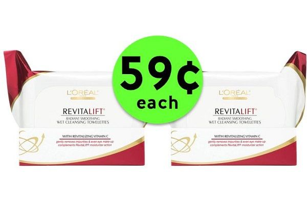 Clean Up with 59¢ L'Oreal Revitalift Cleansing Wipes {Reg. $7+} at CVS! ~ NOW!