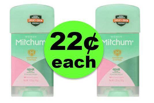 Check Out 22¢ Mitchum Deodorant Sticks at CVS! ~ Going On Now!