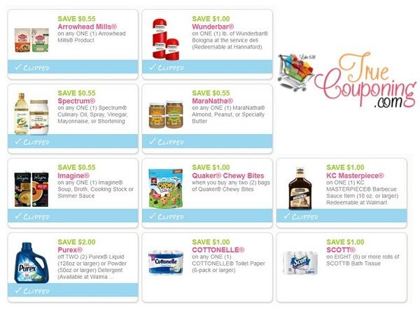 **NEW** & Reset Coupons for Spectrum Oils, MaraNatha Nut Butters, Purex & More!