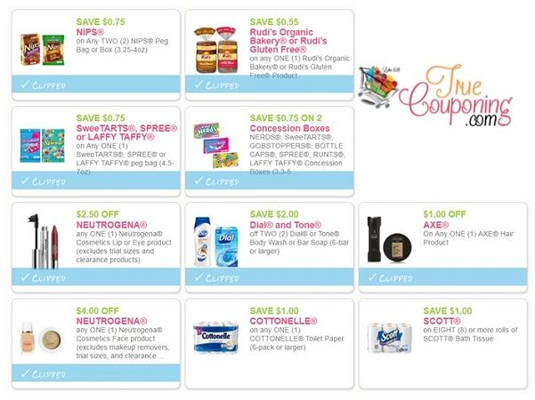Print NOW! ~ Dial Body Wash RESET, New Candy, Axe & Neutrogena Cosmetic Coupons!