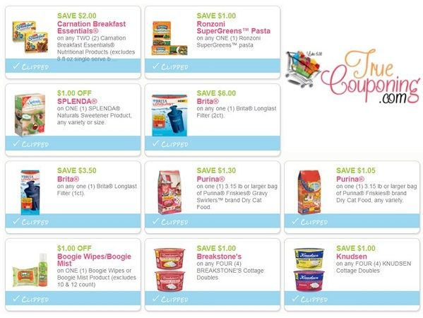 Save Over $18 Off NEW Coupons for Brita, Friskies, Splenda & More!