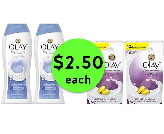 Quick! Run to Publix for $2.50 Olay Body Washes & Bar Soap 6 Packs! ~ Thurs/Fri ONLY (or Weds/Thurs/Fri ONLY)!