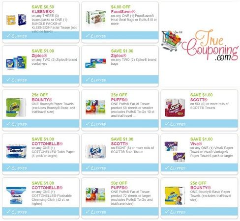 Did You SEE All the Paper & Plastic Coupon Savings?! ~ Print Now For Up To $13 Off!