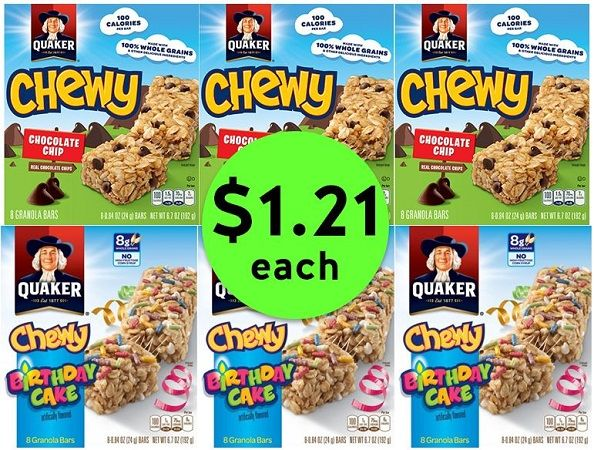 Chew On This Deal! Quaker Chewy Bars JUST $1.21 at Publix! ~ Ends Tues/Weds!