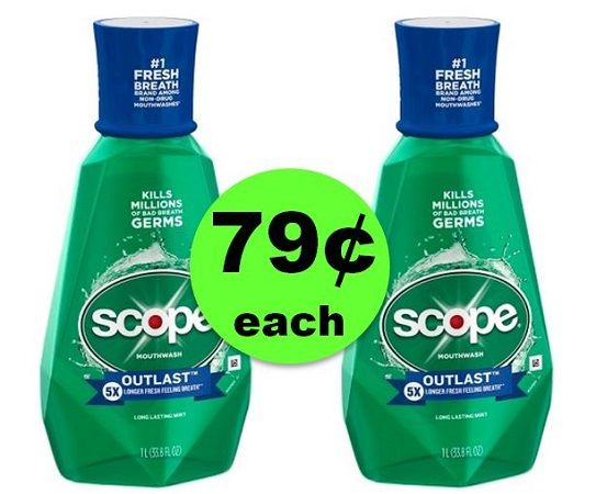 Get Minty Fresh with 79¢ Scope Mouthwash 1 Liters at CVS! (3/18 – 3/24)