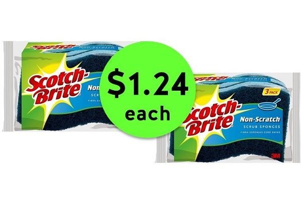 Scrub Away with $1.24 Scotch-Brite Sponge 3 Packs at Publix! ~ Going On Now!