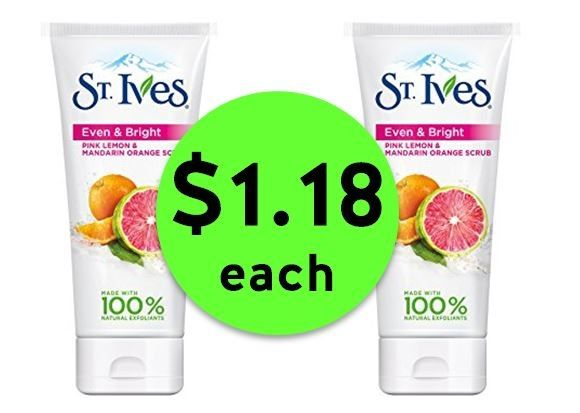 Scrub the Day Away with $1.18 St. Ives Facial Scrubs at Publix! ~ Ends Tues/Weds!