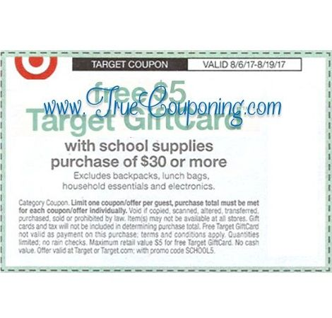 *Heads Up* This Sunday (8/6/17) We're Getting a FREE $5 or $10 Target Gift Card wyb School Supplies Target Coupon!