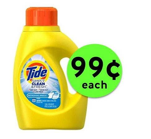 Pick Up 99¢ Tide Simply Clean & Fresh Detergent at CVS! ~ Starts Sunday!