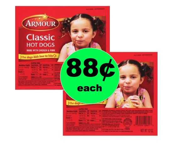 Labor Day Grillin' Deal! Pick Up Armour Hot Dogs ONLY 88¢ Each at Winn Dixie! ~ Going on Now!