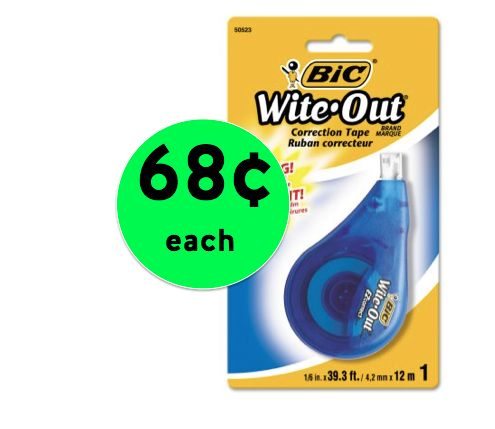 Correct Mistakes Fast! Grab BIC Wite Out EZ Correction Tape For ONLY 68¢ at Walmart! ~RIGHT NOW!