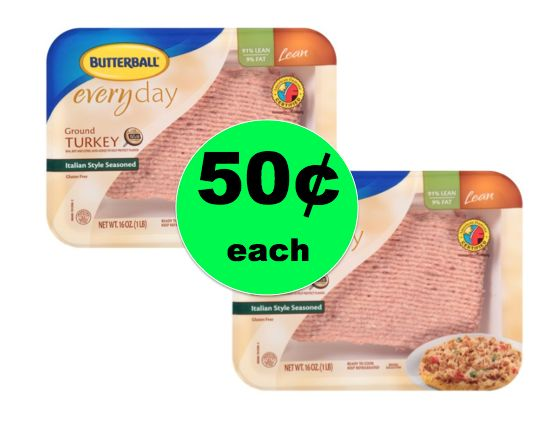 Don't Miss Out on Butterball Ground Turkey ONLY 50¢ Each at Winn Dixie! ~ Ends Tomorrow!
