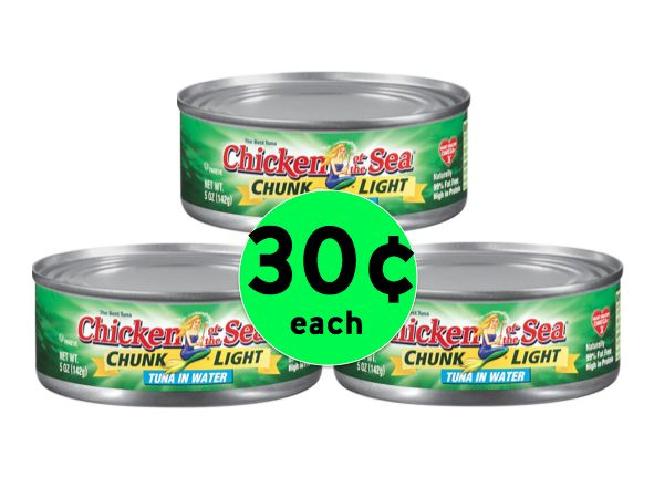 CHEAP DEAL on Chicken of the Sea Chunk Light Tuna ONLY 30¢ Each at Winn Dixie! ~Right Now!