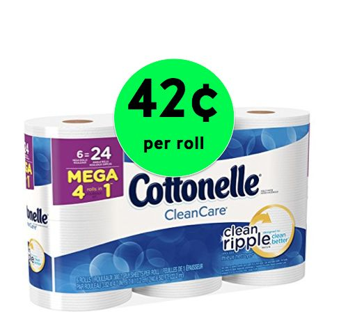 Pick Up Cottonelle Bath Tissue Only 42¢ Per Mega Roll at Walgreens! ~ Right Now!