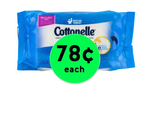 Pick Up Cottonelle Wipes ONLY 78¢ Each at Walmart! ~Right Now!