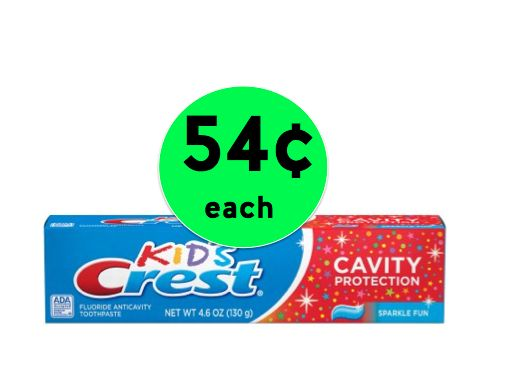 Stock Up on Crest Sparkle Fun Kids' Toothpaste ONLY 54¢ Each at Walmart! ~Right Now!
