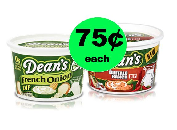 It's Not a Party Without Dean's Dips ONLY 75¢ Each at Winn Dixie! ~ Right Now!