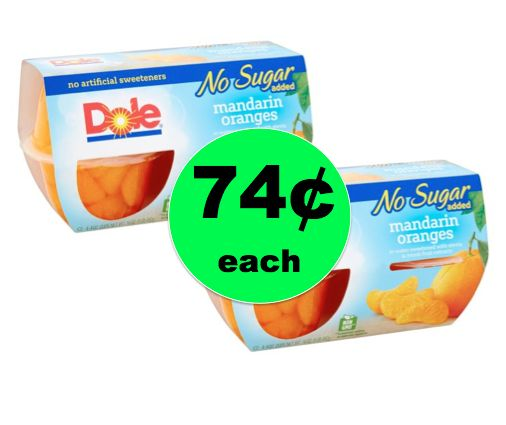 Pick Up TWO (2!) Dole Fruit Bowl Packs ONLY 74¢ Each at Walgreens! ~ Right Now!