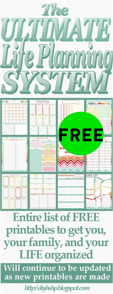 FREE Ultimate Life Planning System Printables!