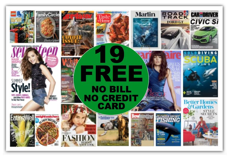 NINETEEN (19!) FREE Magazine Subscriptions Including Marie Claire {No Payment Needed AND You