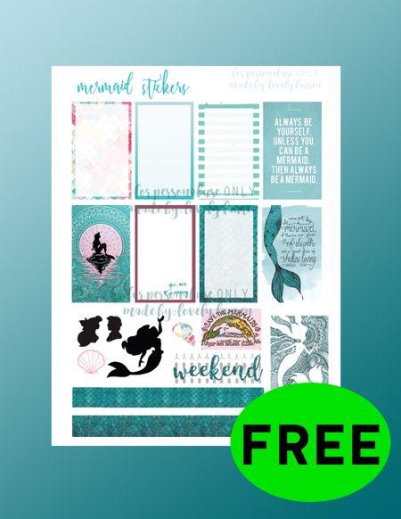 FREE Mermaid Planner Printable!