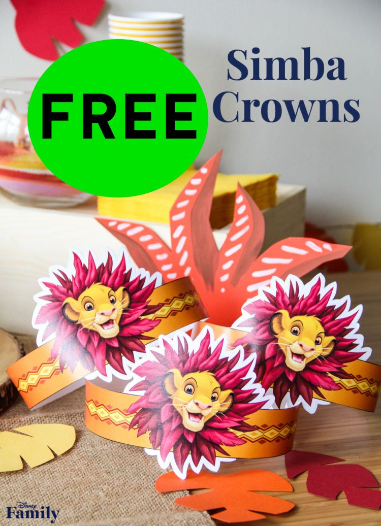 FREE Lion King Simba Crown!