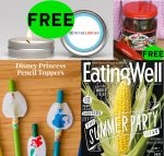 FOUR (4!) FREEbies: Annual Subscription to Eating Well Magazine, Smoked Jalapeños, Voyage Candle and Disney Princess Pencil Toppers!