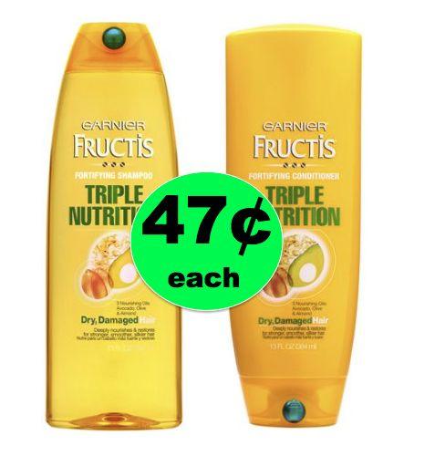 SNEAK PEEK! Pick Up Garnier Fructis Hair Care ONLY 47¢ Each at Walgreens! ~ Starts Sunday!