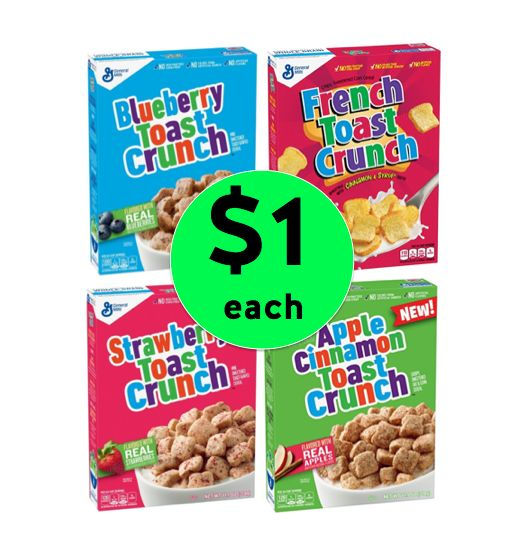 """Fox Deal of the Week! General Mills """"Toast"""" Cereal ONLY $1 Each Box!!"""