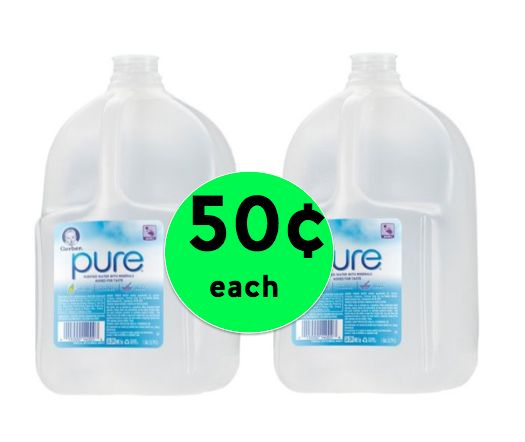 Gerber Pure Purified Water Gallon Size ONLY 50¢ Each at Walmart!  ~Right Now!