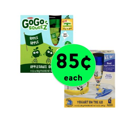 School Lunch Win! Get GoGo Squeez Applesauce or Yogurtz ONLY 85¢ Each at Winn Dixie! ~ Right Now!