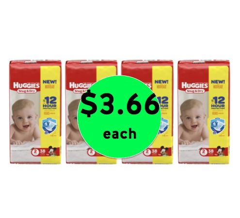 Oh Baby! Get FOUR (4!) Packs of Huggies Diapers ONLY $3.66 Each at Walgreens! ~ Starting Sunday!