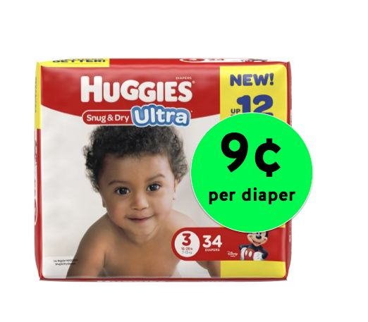 A Diaper Deal You'll Love! Huggies Snug & Dry Diapers ONLY 9¢ Per Diaper Right Now at Walmart!