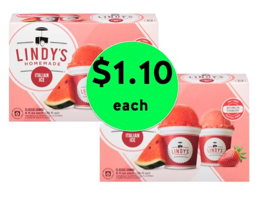Cool Off with Lindy's Italian Ice ONLY $1.10 Each at Winn Dixie! ~ Ends Tomorrow!