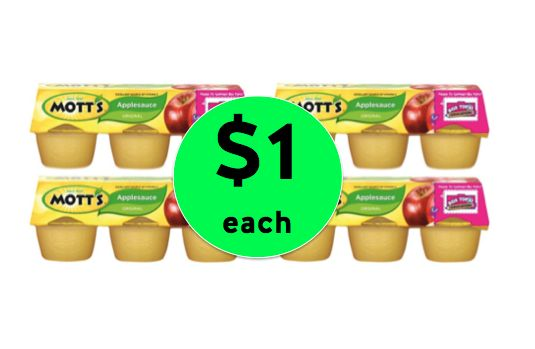 Perfect for School Lunches, Nab $1 Mott's Original Applesauce 6 Packs at Target! ~ Right Now!