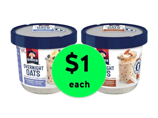 Perfect for School Mornings! Get Quaker Overnight Oats ONLY $1 Each at Walmart! ~Right Now!