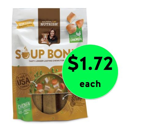 Pick Up a Treat for Your Pup! Rachel Ray Nutrish Soup Bones Dog Treats ONLY $1.72 Each at Walmart! ~Right Now!