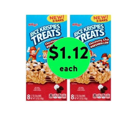 Pick Up TWO (2!) Kellogg's Rice Krispie Treats ONLY $1.12 Each at Winn Dixie! ~ Right Now!
