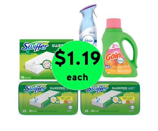 Keep It Clean with Swiffer, Febreze and Gain ONLY $1.19 Each at Winn Dixie! ~ Right Now!