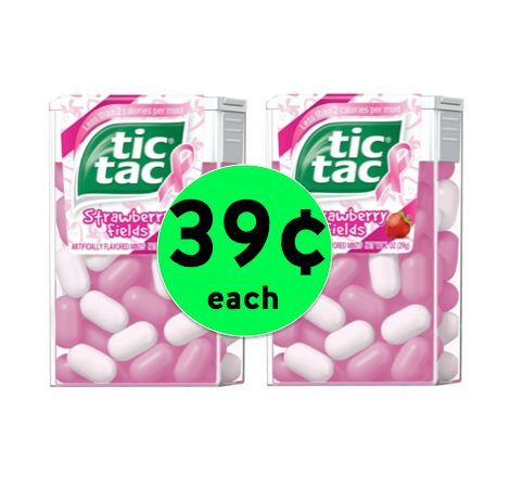Fresh Breath with Tic Tac Mints Only 39¢ Each at Walgreens! ~ This Week!
