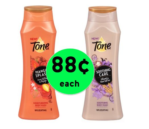 Get TWO (2!) Tone Body Wash ONLY 88¢ Each at Walmart! ~Right Now!