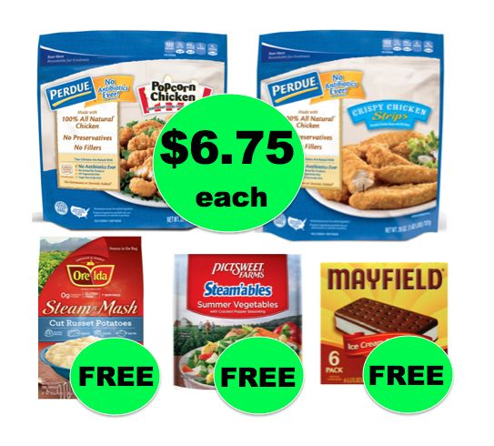 Winn Dixie Meal Deal: Buy TWO (2) Perdue Chicken Popcorn or Strips, Get Potatoes, Veggies & Ice Cream for FREE! (8/30 – 9/5)