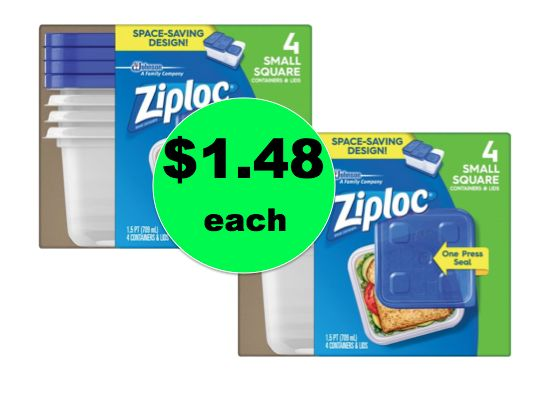Get TWO (2!) Ziploc Container 4 Packs for ONLY $1.48 Each at Walmart! ~ Right Now!