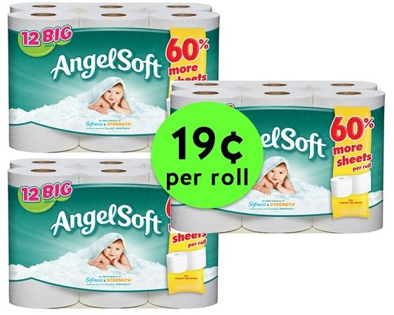 Stock Up on Angel Soft Bath Tissue ONLY 19¢ Per Roll at CVS! ~ Ends Saturday!!