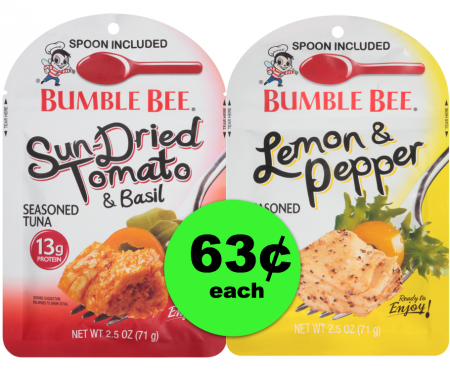 Hurricane Prep Item!! Bumble Bee Seasoned Tuna Pouches For 63¢ at Publix! ~ Starts Weds/Thurs!