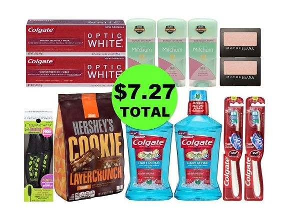 For Only $7.27 TOTAL, Get (1) Hershey's Pouch, (1) Mascara, (2) Eye Shadows, (3) Deodorants & (6) Oral Care Products This Week at CVS!