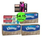 For Only $4.15 TOTAL, Get (2) Toothpastes, (3) Kleenex Boxes & (4) Cosmetics This Week at CVS!
