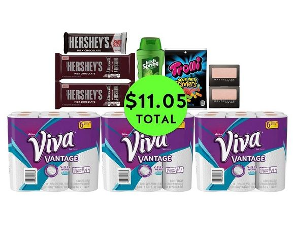 For Only $11.05 TOTAL, Get (1) Body Wash, (2) Eye Shadows, (3) Candies & (3) Paper Towel 6 Packs This Week at CVS!