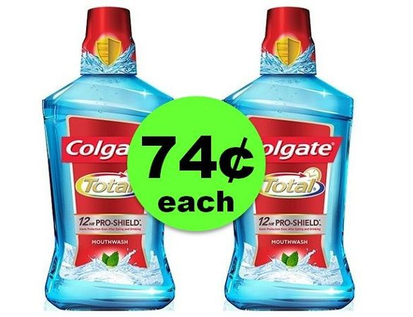Wash Out Those Germs with 74¢ Colgate Total Mouthwash at CVS! ~ Going On Now!