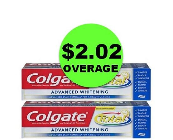 TWO (2!) FREE Plus $2.02 OVERAGE on Colgate Total Toothpastes at CVS! ~ This Week Only!